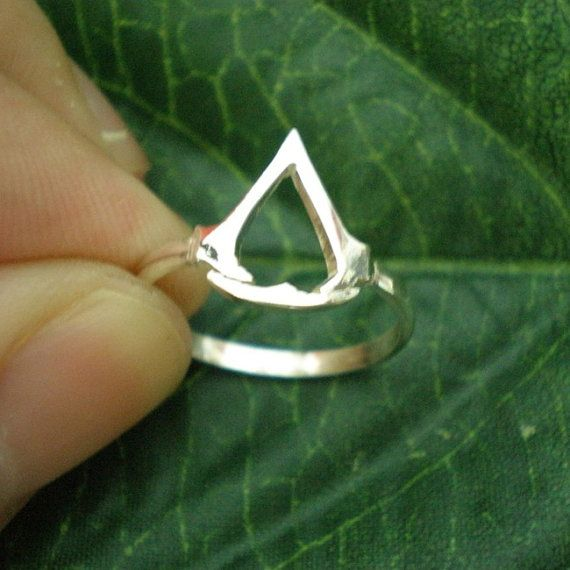 Assassin Symbol Ring Video Game Jewelry For Gamer By