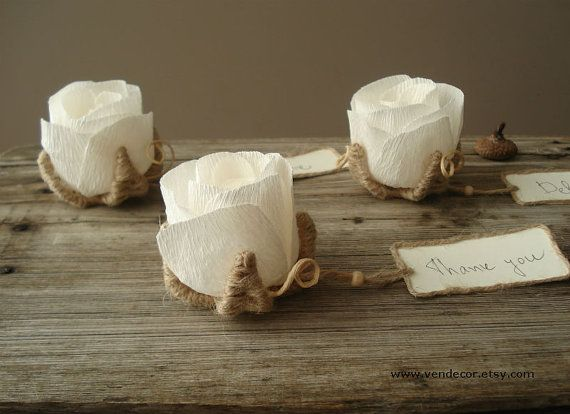 Wedding Place Card Holder Set Of 15 Rustic Flower By VENDecor 4500