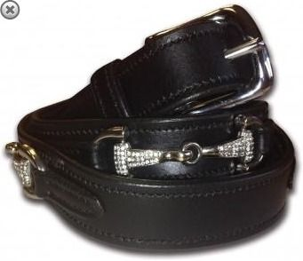 Equetech Leather Crystal Snaffle Belt