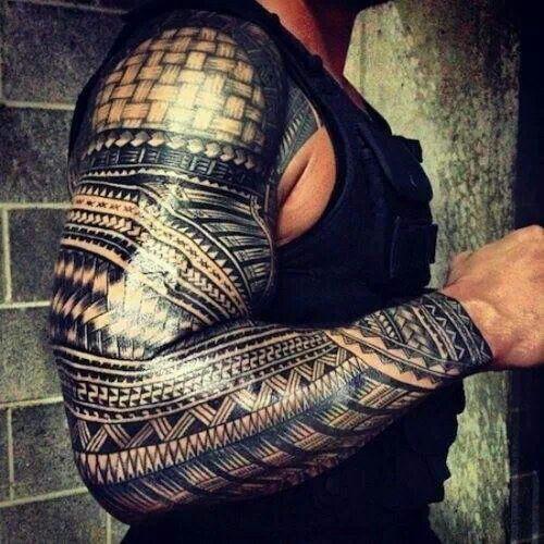 Tribal sleeve tattoo
