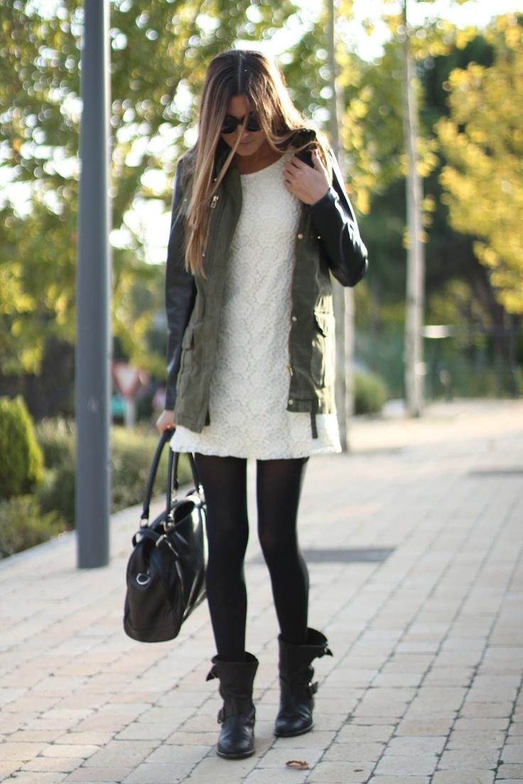 fancy outfit vestido y leggins 11