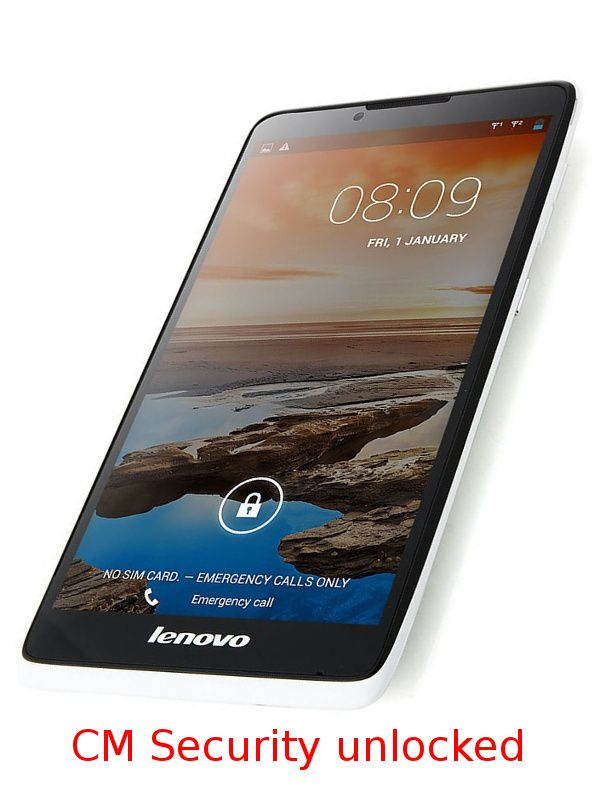 Screen unlock CM Security swipe 9 dots of Lenovo A889 phone preserving data