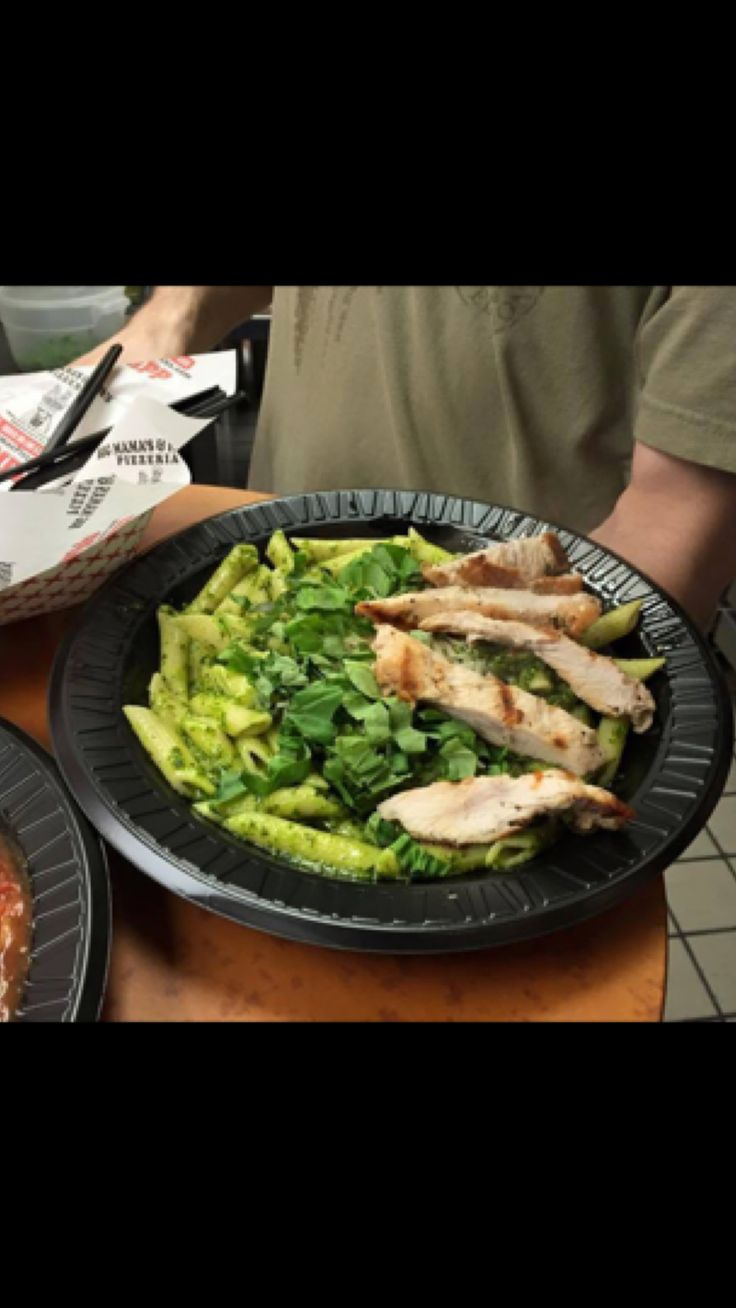 Lunch is just around the corner! How about Penne with Pesto Sauce and Grilled Chicken Breast? #BMPP  Pro Tip: Order delivery online 7 times and get a large 2 topping pizza for free!  https://ordernow.bigmamaspizza.com/