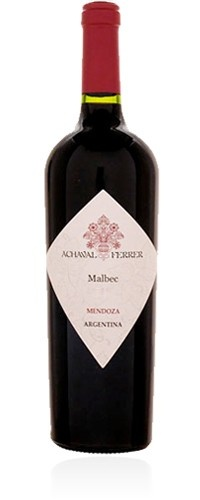 """Achaval Ferrer Malbec Mendoza 2010 : """" Intense, pure, full colours and young aromas. This wine completes our vision of Malbec. We wish to honour the insignia variety of Mendoza. We want to emphasize all the characteristics of this unique cepage. Our work in the vineyards reinforces leaf system over root system, and emphasizes the soul of the fruit. """" Achaval Ferrer $38.50"""