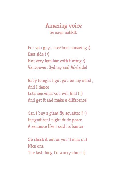 Zayn Malik | If One Direction's Tweets Were Poems