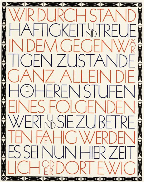 The Kabel typeface (1927) by Rudolf Koch, presented in an - h cker k chen katalog
