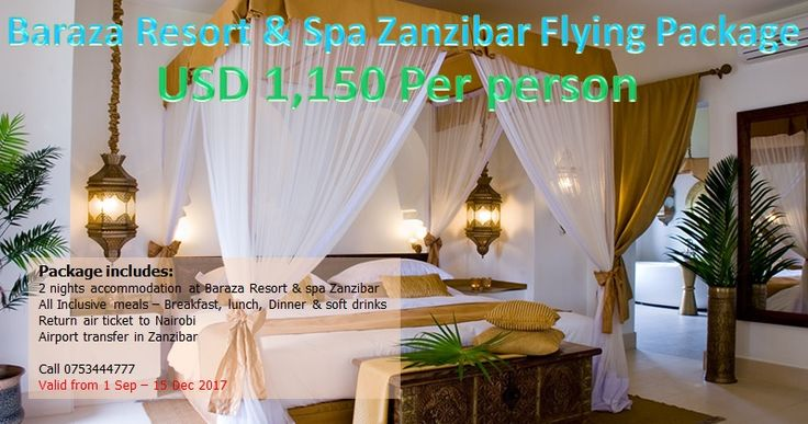 Brightways Travels » Baraza Resort & Spa Zanzibar Flying package