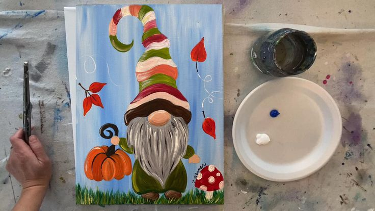How To Paint A Fall Gnome [Video] [Video] in 2020 Fall