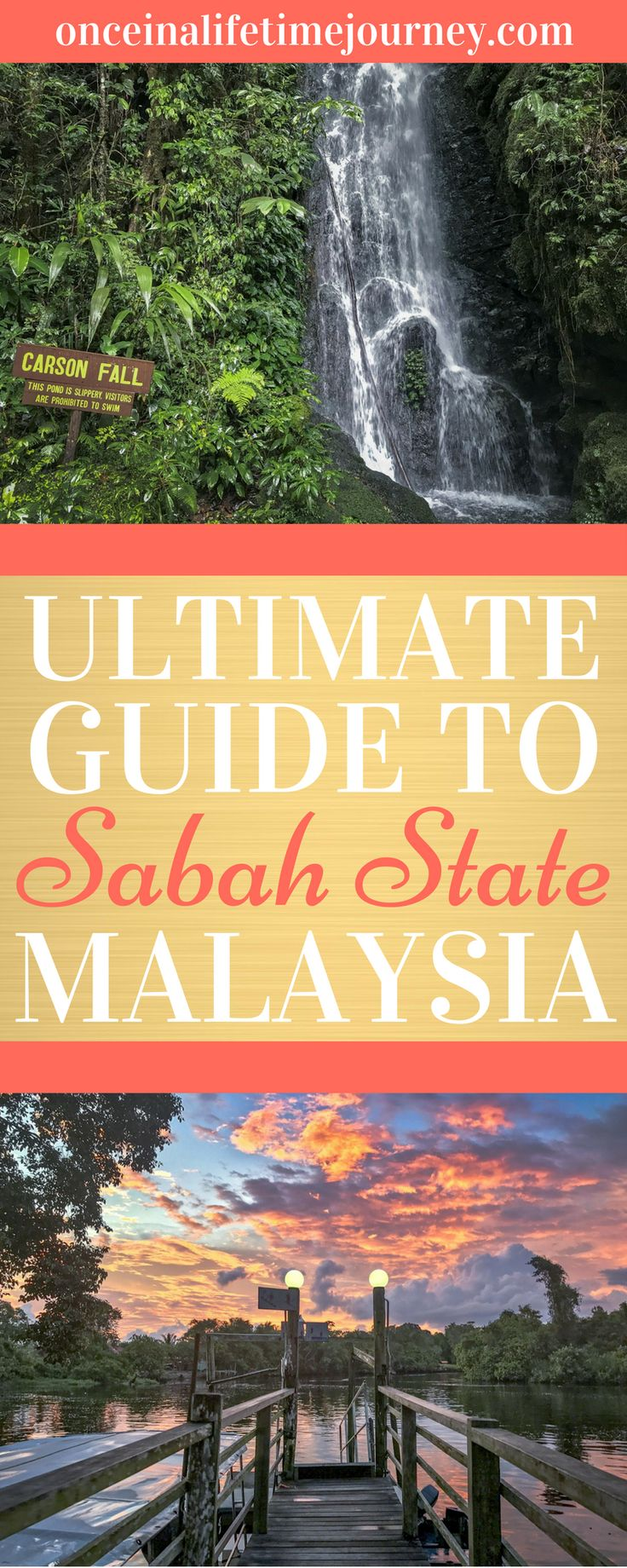 As an expat living in Singapore, I'm constantly trying to find new places that are close by so that I can escape for a relaxing weekend, and Sabah State in Malaysia fit the bill perfectly. Click through to read my ultimate guide to Sabah State in Malaysian Borneo, including Kota Kinabalu and Kinabalu Park. | Once in a Lifetime Journey #malaysia #borneo #travelguide #kotakinabalu