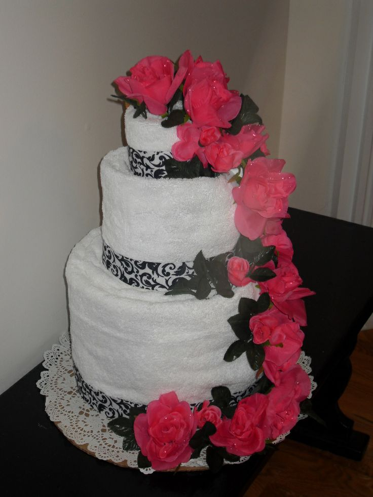 wedding cake tower instructions 17 best images about towel cakes on wedding 26683