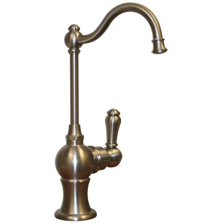 Whitehaus Collection Forever Hot Single-Handle Point of Use Drinking Fountain Faucet with Traditional Spout in Brushed Nickel