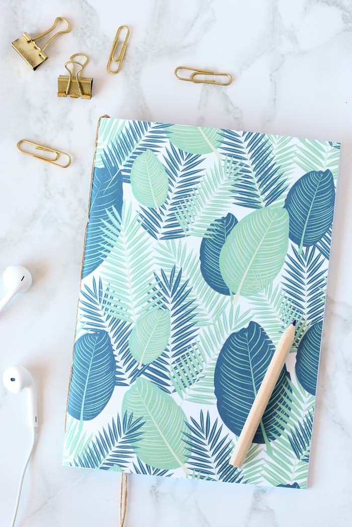 Make gorgeous bound DIY notebooks using materials that you already have at home. | www.homeology.co.za