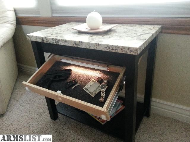 For Sale: Custom Table With Secret Hidden Storage   Night Stand   End Table    Desk   TV
