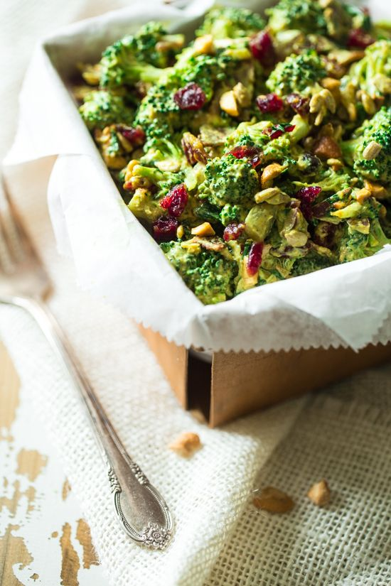 Paleo Broccoli Salad with Cashew Cream