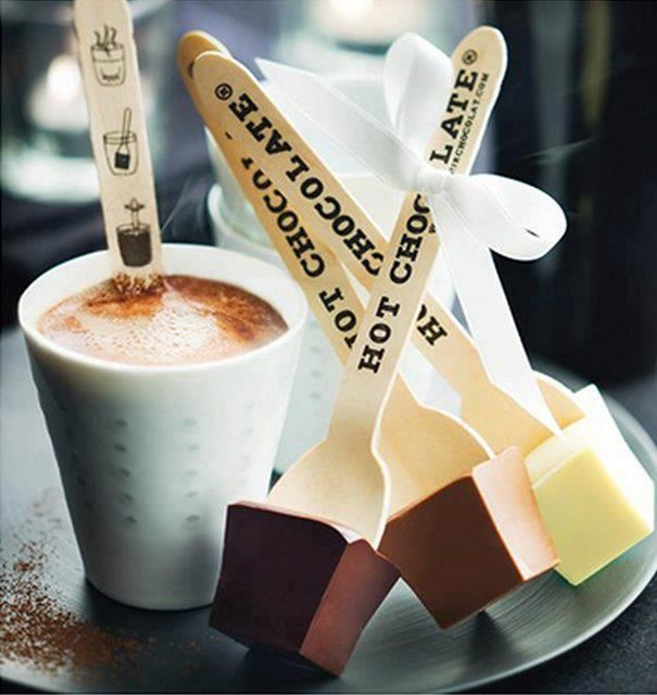 Hot Chocolate Spoons - from 'Savour Chocolate'    www.icreatived.com