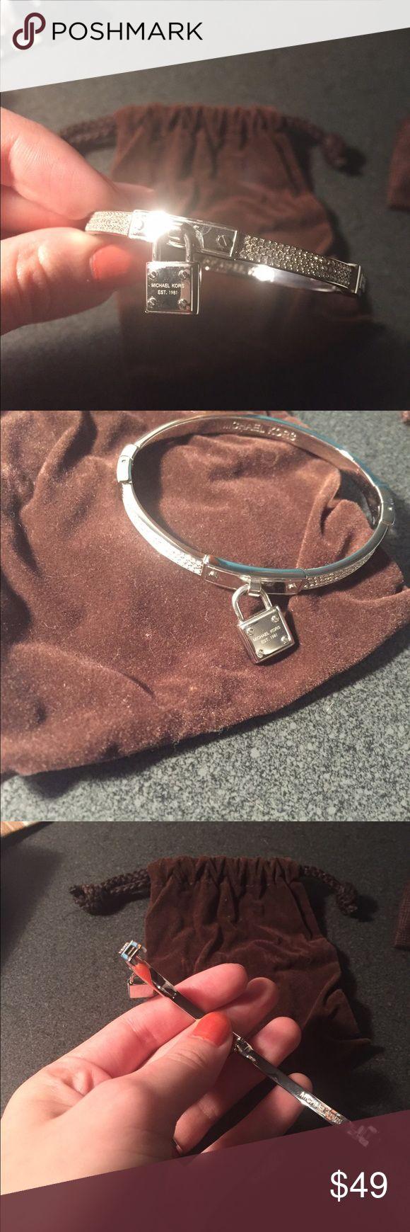 HP🎉 Michael Kors Silver Bracelet Like new.  Comes with dust bag.  No trades please. Michael Kors Jewelry Bracelets