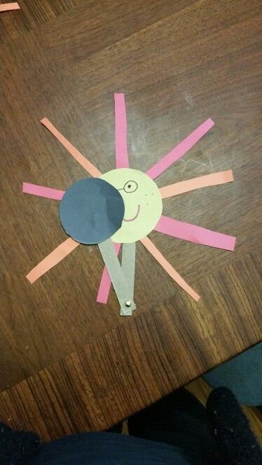 Solar eclipse activity. If you really want to get into it you can have the kids glue a picture of their face on the sun.