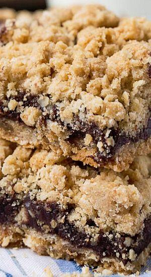 Chocolate Fudge Oatmeal Bars
