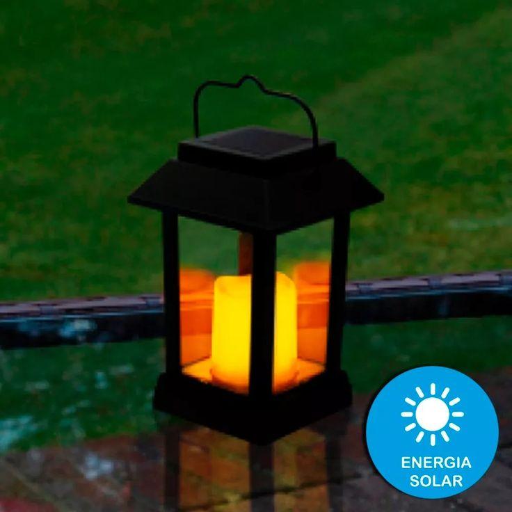 vela luz led lanterna luminária solar decorativa portátil