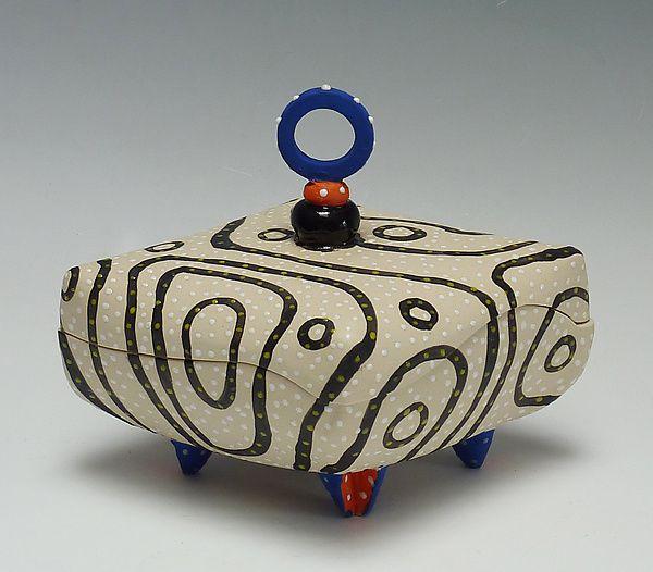 Blackline Diamond Pillow Box: Vaughan Nelson: Ceramic Box | Artful Home