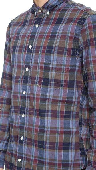 Gitman Vintage Archive Indigo Madras Shirt
