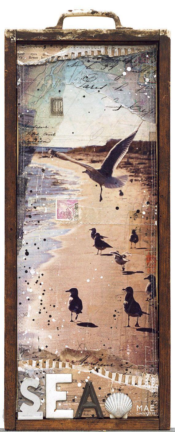 Winter Birds No. 1 original mixed media
