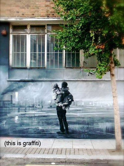 Street art *beautiful...i would love to have one of these extremely talented people paint my garage!*