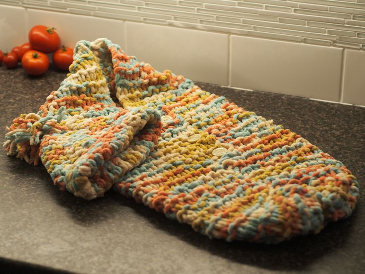 Handmade Knit Bunting Bag with Hat