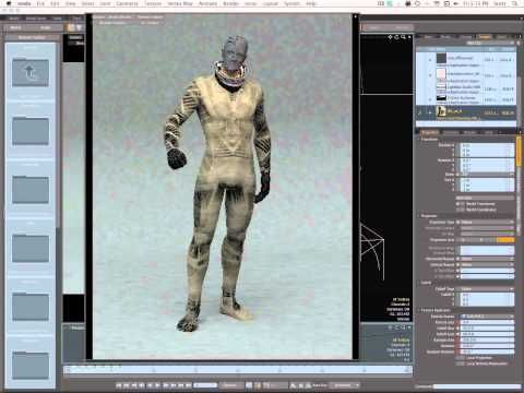 texture bombed sci-fi suit in modo - YouTube
