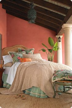 Beautiful, Spanish style decor.  softsurroundings.com Frm bd: Blush... damn it!