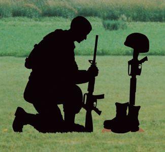 Fallen Soldier Shadow Woodcrafting Pattern This Kneeling