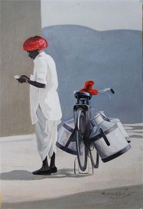 The Milkman Indian Contemporary Art