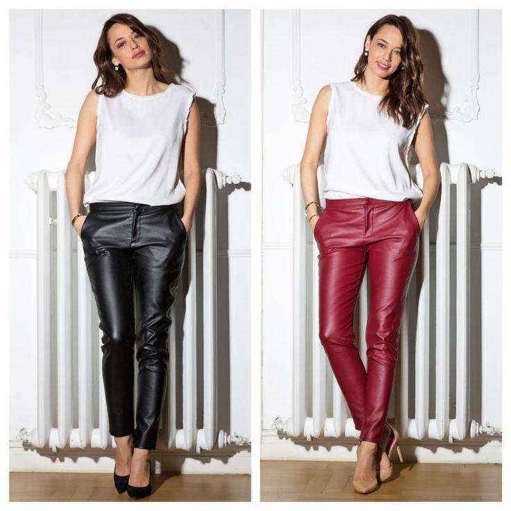 Cu ce se poarta pantalonii din piele: 4 sfaturi practice