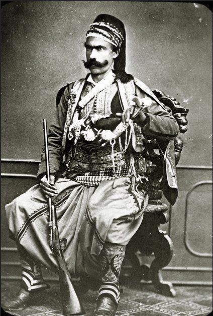 Ottoman Turk soldier, circa 1880-1900.