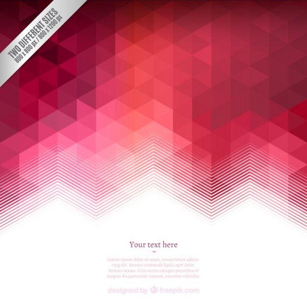 Fundo geométrico em tons de vermelho Vetor grátis