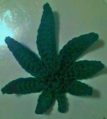 Pot/Marijuana leaf - free crochet pattern by Jessica Whitby.