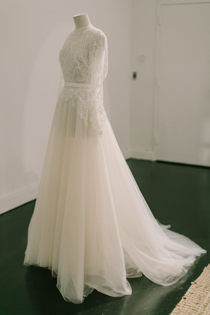 The bridal gown of Elie Saabs Spring