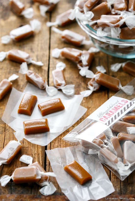 Homemade gingerbread caramel candy
