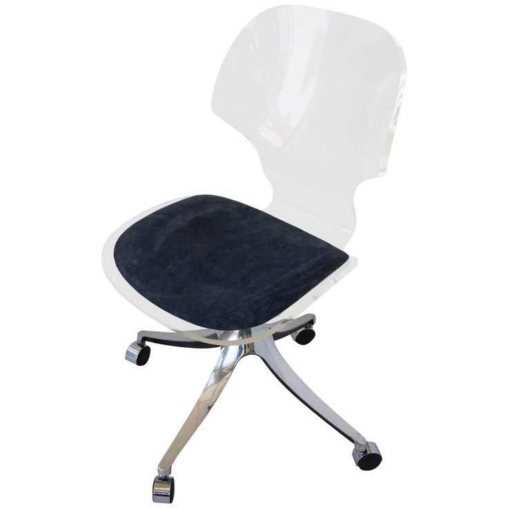 Hill Manufacturing Co. Lucite Rolling Desk Chair