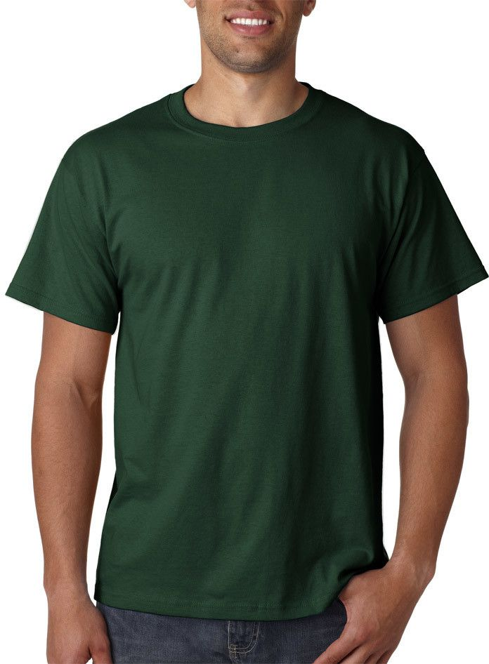 fruit of the loom adult heavy cotton hd(R) t-shirt - forest green (m)