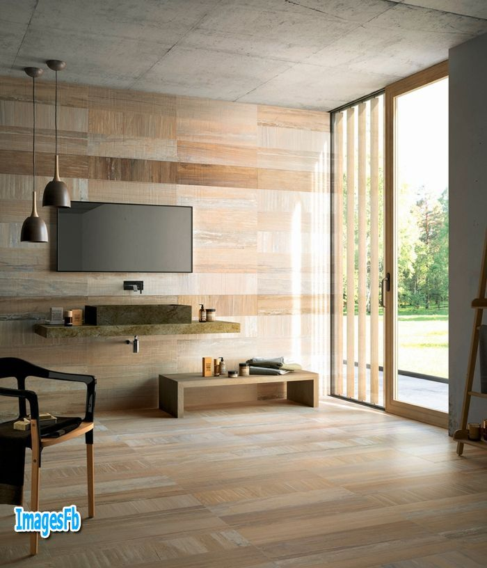 نتيجة بحث الصور عن سيراميك جدران صالات Modern Decor Contemporary Fireplace Wood Look Tile