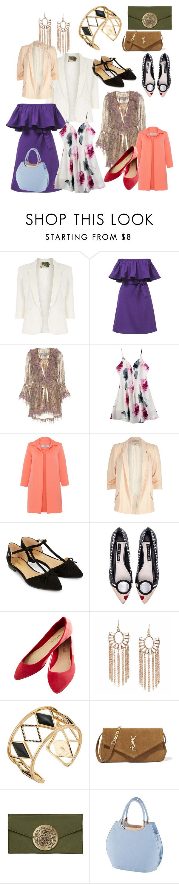 """körte testalkat"" by xaxa-szasza on Polyvore featuring Jolie Moi, Etro, D.Exterior, River Island, Accessorize, Alice + Olivia, Wet Seal, Rebecca Minkoff, Yves Saint Laurent and Dareen Hakim"