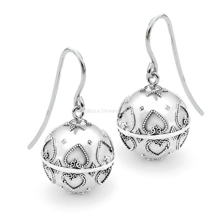 Hearts Harmony Ball Earrings by Bella Donna Silver