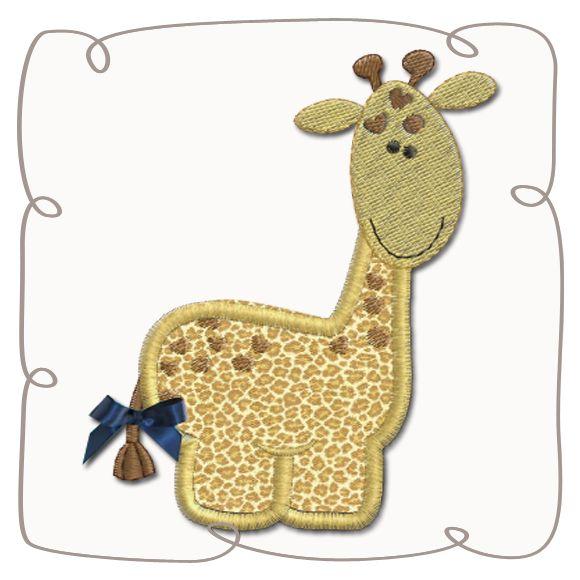 Giraffe Applique Machine Embroidery Design Pattern-INSTANT DOWNLOAD