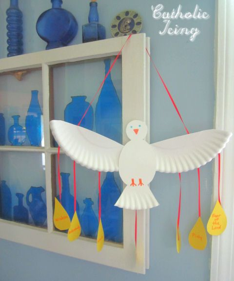 Gifts of the Holy Spirit dove craft