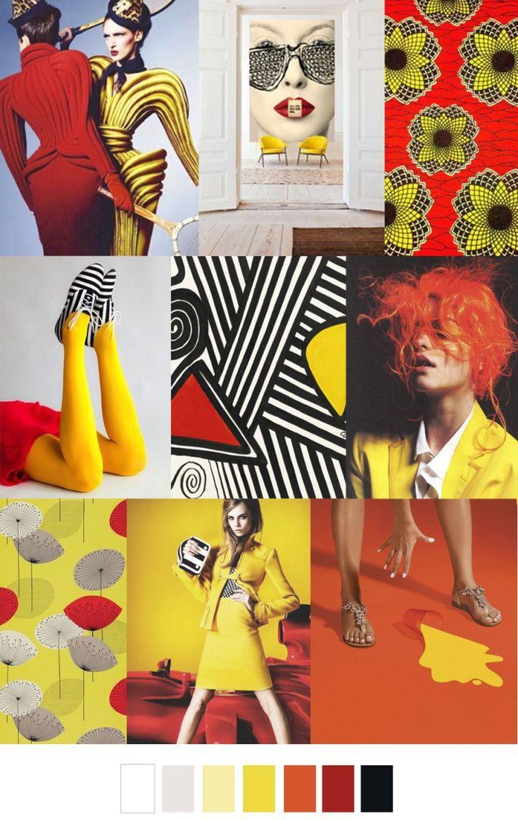 sape orange shweshwe moodboard - 700×1108