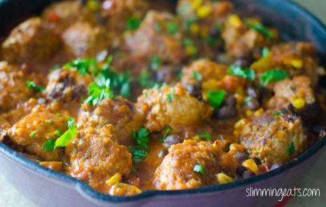 Southwestern Turkey Meatballs   Slimming Eats - Slimming World Recipes