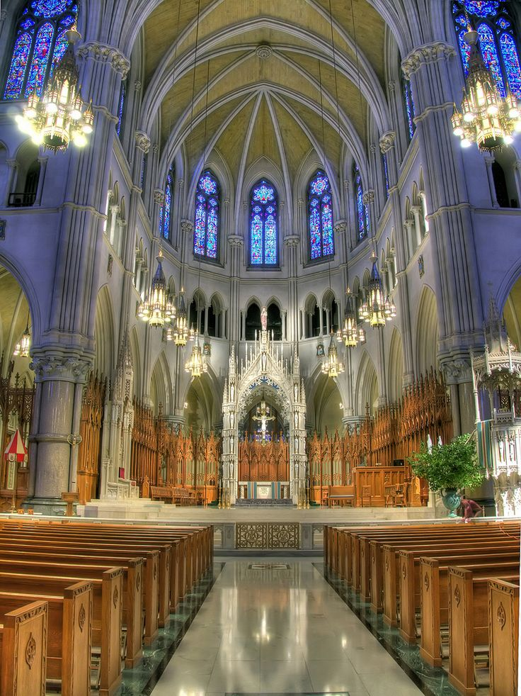 Cathedral Basilica of the Sacred Heart, Newark - I Walked down this Aisle for my High School Graduation.