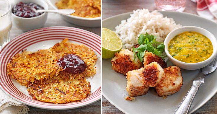 Carolina Soudah trollar i köket och resultatet blir en läcker veckomeny. Vad sägs om gyllenstekt torsk med mango, ugnsstekt kycklinglårfilé och mättande räksallad? Smal och god mat utan...