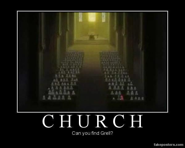 I wonde where the main characters are? *points to grell's hair* Found Them! xD
